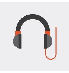 Headphone device isolated icon vector
