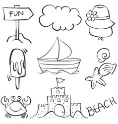 Holiday object doodles vector