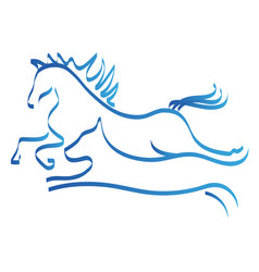 Horse and dog line art logo symbol vector