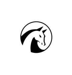 Horse head logo icon vector