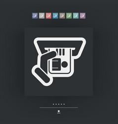Id card insert icon vector