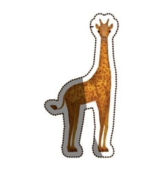 Isolated polygonal giraffe design vector
