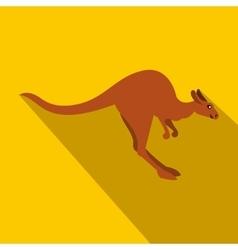 Kangaroo icon flat style vector