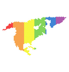 lgbt spectrum pixel north america map vector image