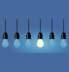 Light bulbs in a row vector
