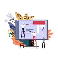 media broadcasting web site development vector image