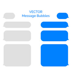 message bubbles chat smartphone design vector image