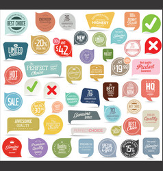 modern badges and stickers collection vector image