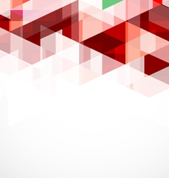 Modern red geometrical abstract template vector