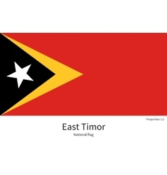 National flag east timor with correct vector