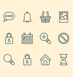 Network icons set collection of obstacle message vector