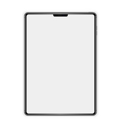 new template realistic tablet on white background vector image