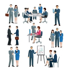 Office Worker Set vector