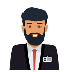 operator consultant man icon design vector image
