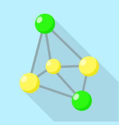 oxidant molecule icon flat style vector image