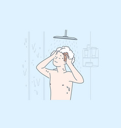 personal hygiene and cleanliness daily body care vector image