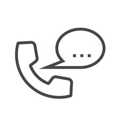 phone thin line icon vector image