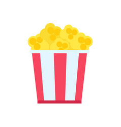 pop corn in big cup poster vector image