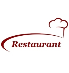 Restaurant background with chef hat vector