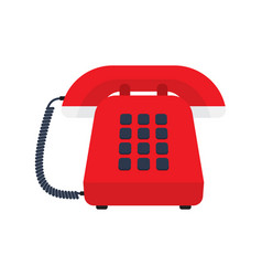 Retro styled telephone vector