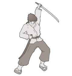 samurai attack vector image