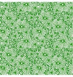 Seamless green pattern vector