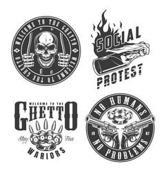 Set of gangster emblems vector
