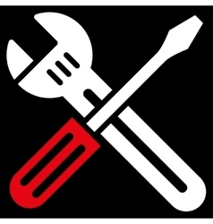 Spanner And Screwdriver Icon vector image