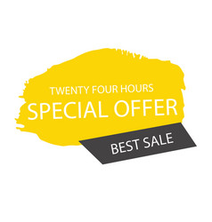 special offer twenty four hours best sale banner v vector image