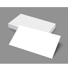 Stack blank business card on gray background vector