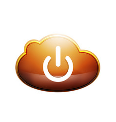 start power cloud button ui icon design on off vector image