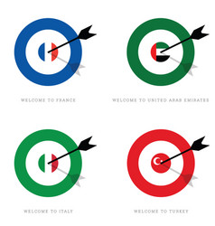 Target with flags set vector