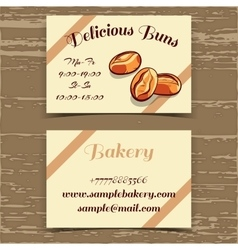 Template Business Card Bakery vector