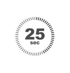 timer 25 sec icon simple design vector image