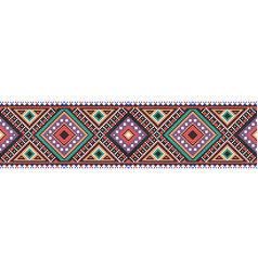 Traditional folk art knitted embroidery seamless vector