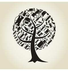Tree car vector