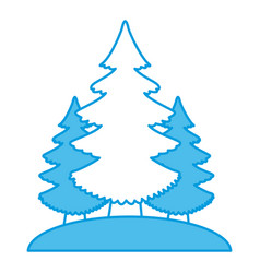 trees pines isolated vector image