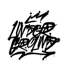 under ground graffiti vector image