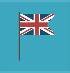 United kingdom flag icon in flat design vector