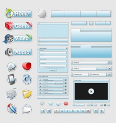 web interface set vector image