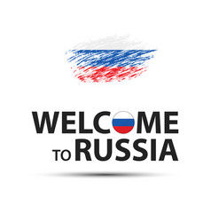 Welcome to russia symbol simple modern russian vector