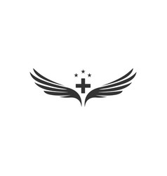 wings and medicine symbol designs vector image