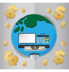 World Cash Machine vector
