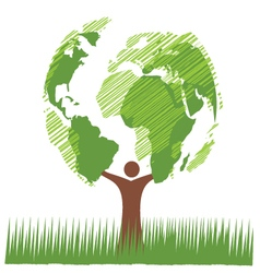 world green vector image