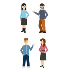 Young people cartoon isolated vector
