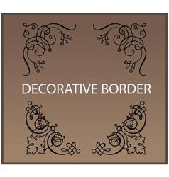 Calligraphic and decor design elements borders vector image