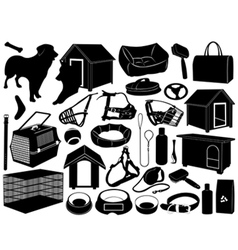 different objects for dogs vector image vector image
