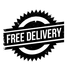 Free delivery stamp vector image vector image