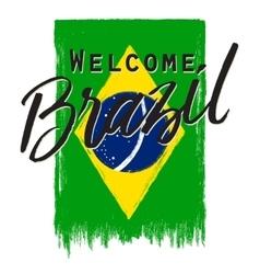 National Brazil flag vector image vector image