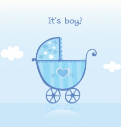 pram for boy vector image vector image